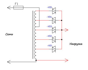 принципиальная схема стабилизатора напряжения 220в